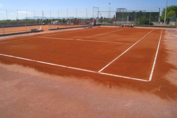 Courts de tennis en terre battue