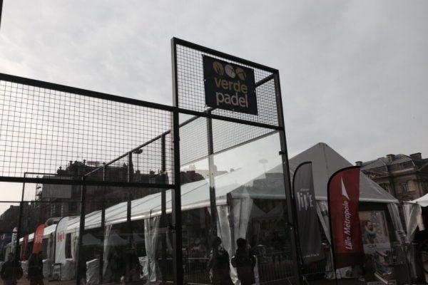 Verdepadel a installé un terrain de padel à Lille à côté des courts de la finale de la Coupe Davis